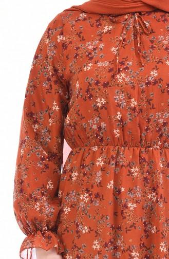 فستان قرميدي 1280-06