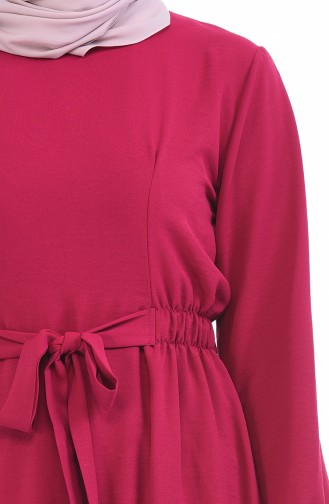 Robe a Ceinture Tissu Aerobin 1284-02 Fushia 1284-02