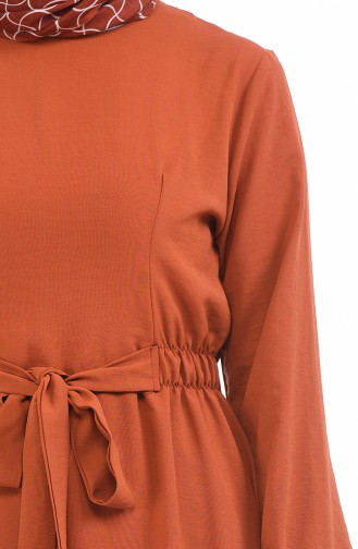 فستان قرميدي 1284-03