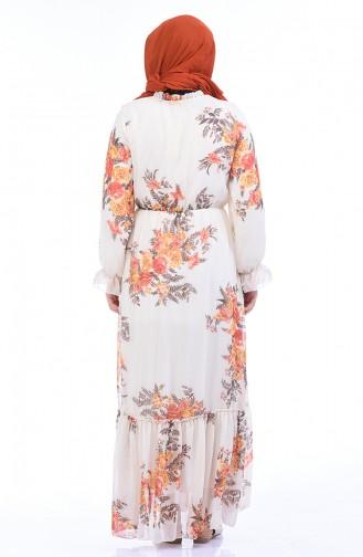 فستان بيج فاتح 1291A-01