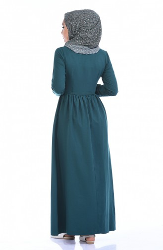 Ribbed Dress 7273-02 Emerald Green 7273-02