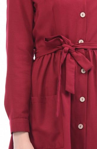Claret red Dress 4286-03