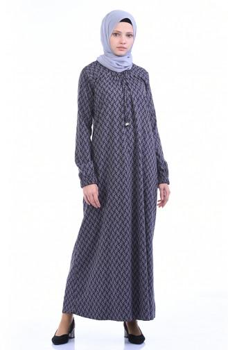 Gummi Kleid 1274-01 Nerz Schwarz 1274-01