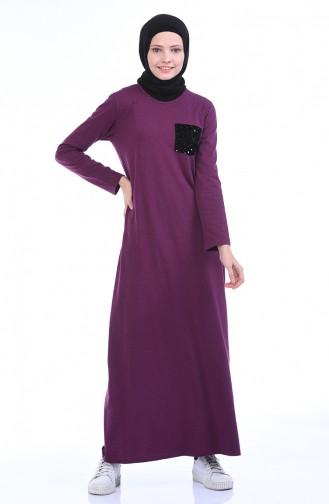 Gekammtes Kleid 0501-07 Zwetschge 0501-07