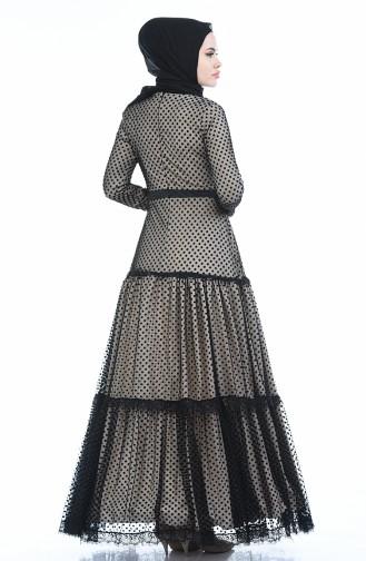 فستان بني مائل للرمادي 12010-04