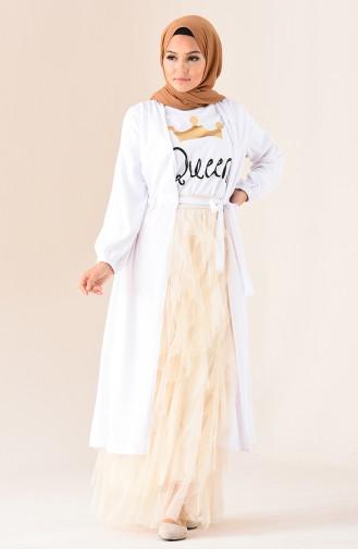Cream Skirt 12006-09