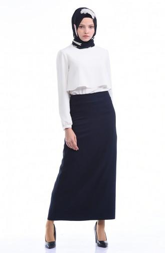 Navy Blue Skirt 4109-03