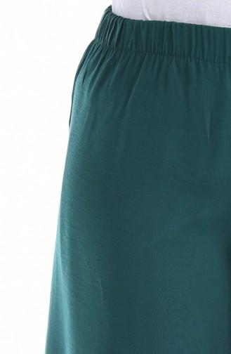 بنطال أخضر زمردي 25072-08