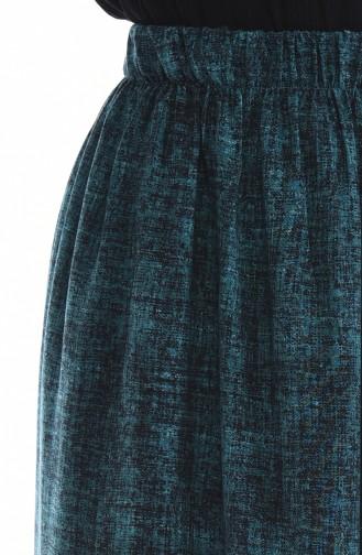 تنورة أزرق زيتي 53759-01