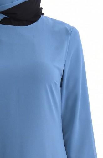 3 Lü Kombin Şallı Takım 4160-05 Mavi 4160-05