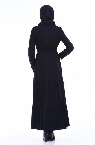 فستان أزرق كحلي 7K3701800-01