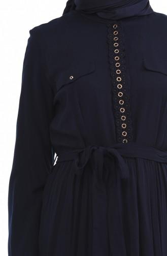 Kleid mit Band  7K3701800-01 Dunkelblau 7K3701800-01