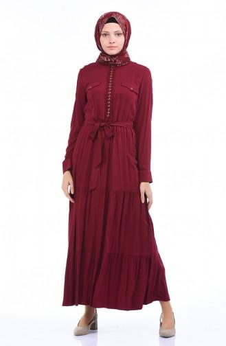 Robe a Ceinture 7K3701800-02 Bordeaux 7K3701800-02