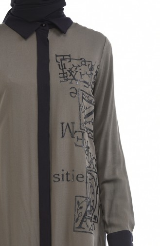 Bedruckte Tunika 7K6702500-01 Khaki 7K6702500-01