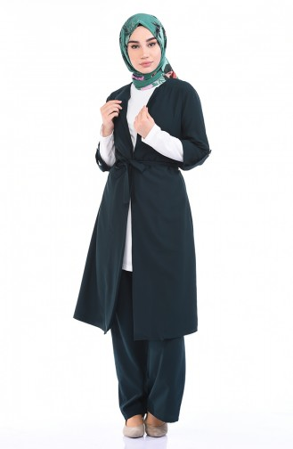 Kap Pantolon İkili Takım 1199-15 Zümrüt Yeşil