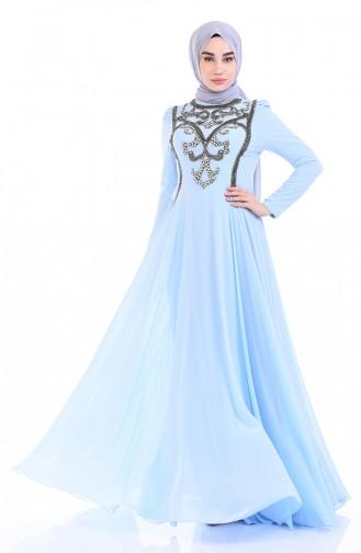 Baby Blues Islamic Clothing Evening Dress 7062-01