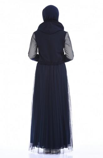 Navy Blue Dress 9076-02