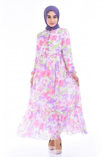 فستان أخضر حشيشي 8346-02