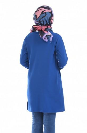 Tunique Manches Chauve Souris 10295-07 Bleu Roi 10295-07