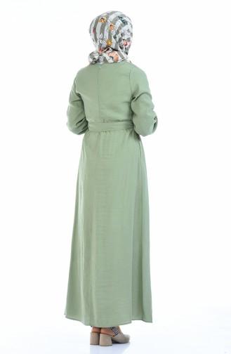 Unreife Mandelgrün Hijap Kleider 0006-04
