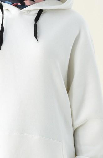 Ecru Sweat shirt 9039-01