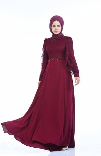 Damson İslamitische Avondjurk 7028-01