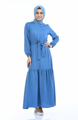 فستان نيلي 0171-04