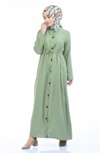 Unreife Mandelgrün Hijap Kleider 0003-01