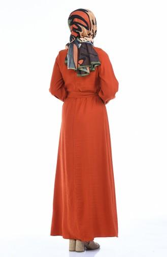 Ziegelrot Hijap Kleider 0006-05