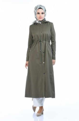 Khaki Trench Coats Models 6827-02