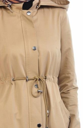 Milchkaffee Trench Coats Models 6827-05