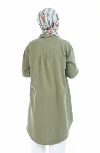Light Khaki Green Tunic 6225-01