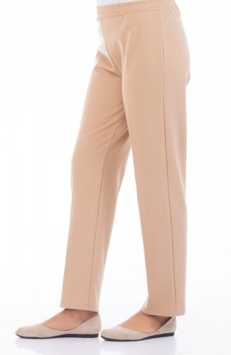 Pantalon Taille élastique 2107-03 Café au Lait 2107-03