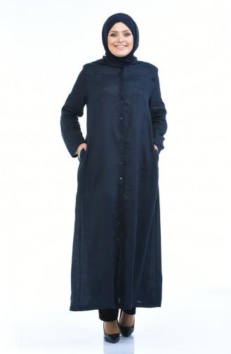 Navy Blue Abaya 0382-01