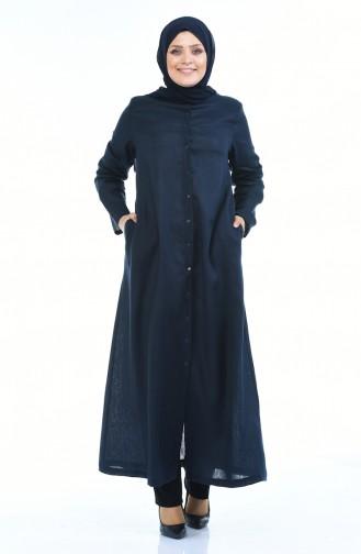 Navy Blue Abaya 0383-01