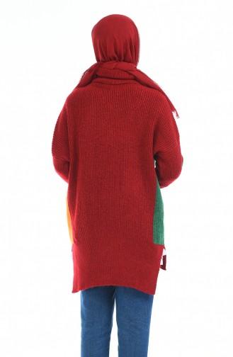 Triko Cepli Kazak 1474-02 Kırmızı 1474-02