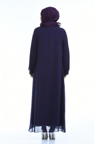 Purple Islamic Clothing Evening Dress 1043-02