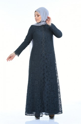 Light Black Islamic Clothing Evening Dress 1165-06