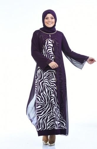 Damson Islamic Clothing Evening Dress 5940-02