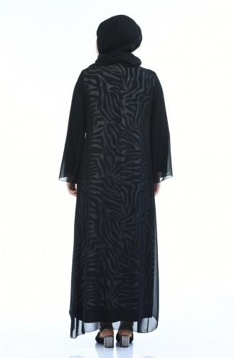 Schwarz Hijab-Abendkleider 5940-03