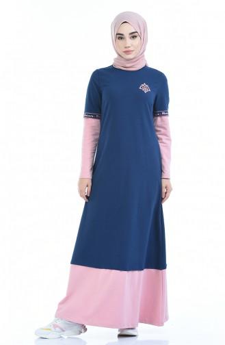 فستان وردي 4066-01
