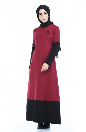 Claret red Dress 4066-03