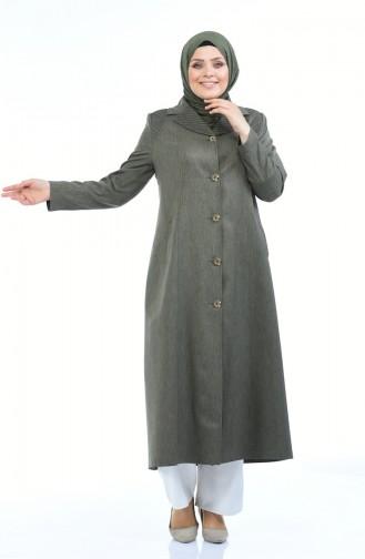 معطف فوقي أخضر حشيشي 5130-05
