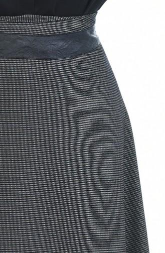 Gemusterter Glockenrock 4110-01 Schwarz 4110-01