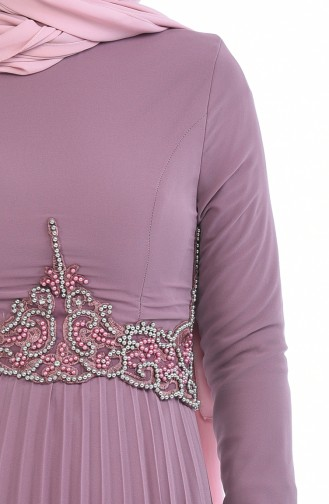 Beaded Embroidery Evening Dress 8004-03 Dried Rose 8004-03