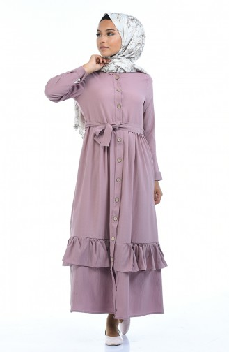 فستان زهري باهت 5790-02