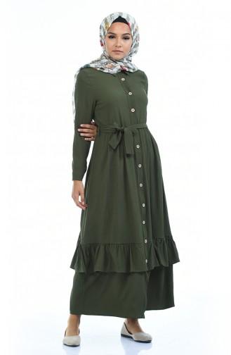 Khaki Hijap Kleider 5790-03