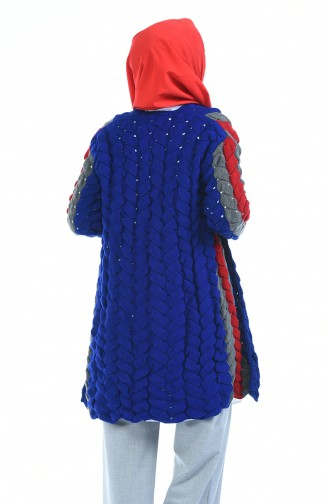 Gilet Tricot 1480-05 Bleu Roi 1480-05