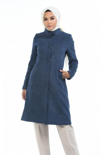 Indigo Long Coat 1489-01
