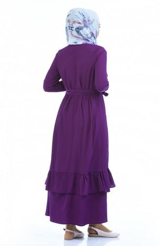 Lila Hijap Kleider 5790-06